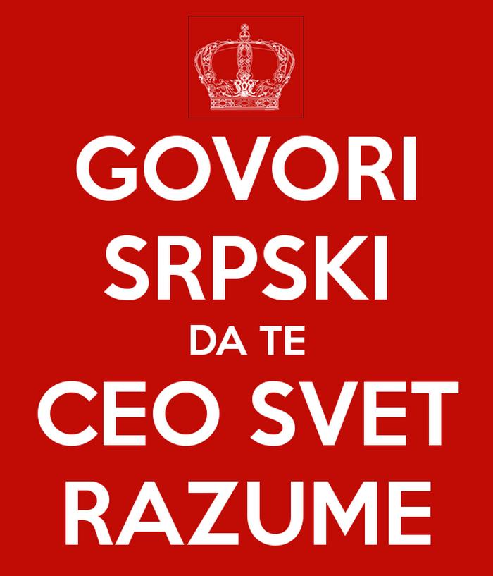 Govori srpski