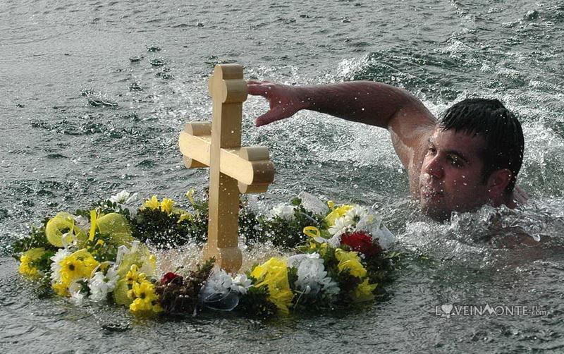 Плавание за крестом на Крещение