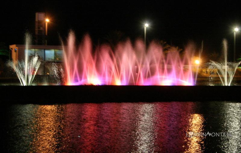 Поющие фонтаны на озере Ардагани в Батуми