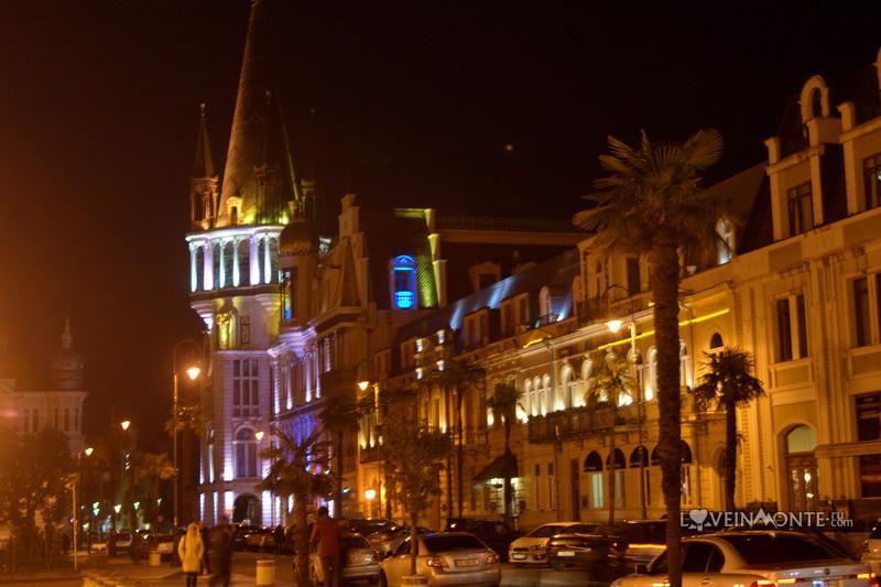 Площадь Европы ночью