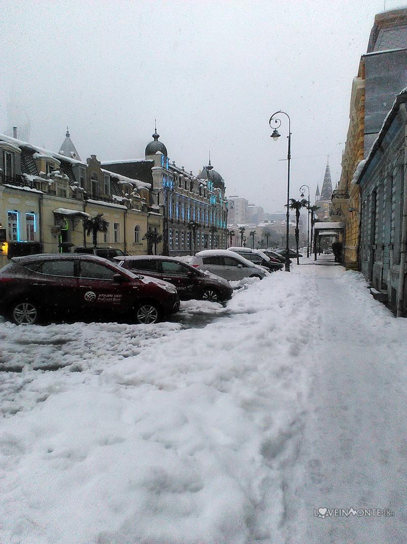Снег в январе в Батуми