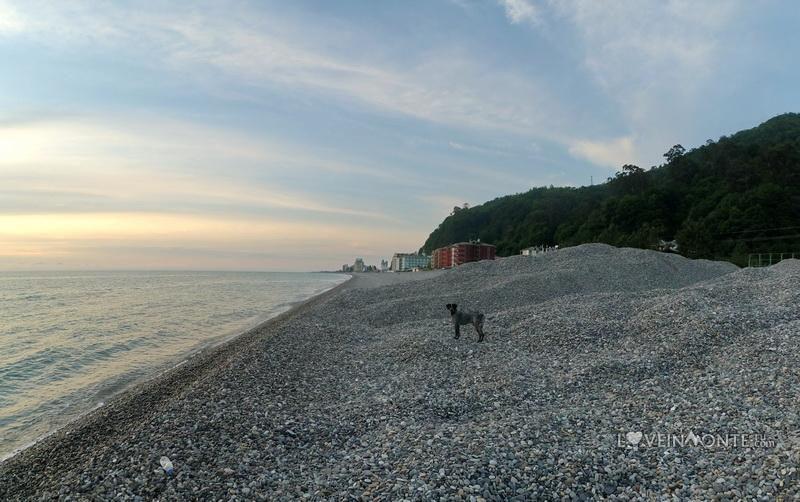 Пляж Квариарти на закате